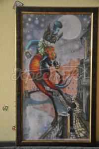 Вишита картина з котом з казки