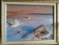 Вышитая картина морская тематика