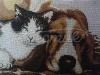 """Бисерная картина """"Кот и пес"""" купить в интернет-магазине"""
