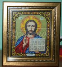 """Вышитая икона """"Иисус Христос"""""""