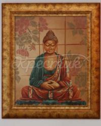 Вышитая крестом картина Будда