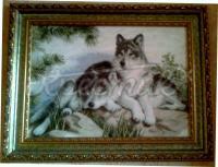"""Купить вышитую картину """"Волки"""""""