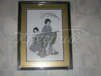 """Вишита картина """"Японські дівчата і сакура"""" купити"""