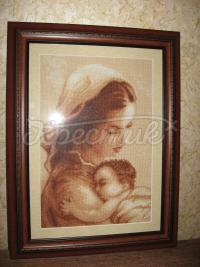 """Вишита картина хрестиком """"Мати і дитя"""" купити Київ"""