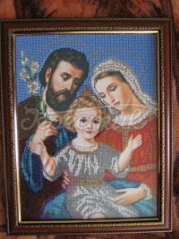 """Вышитая икона бисером """"Святое семейство"""" купить"""
