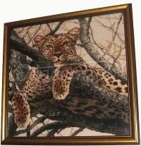 """Вышитая картина """"Леопард"""""""