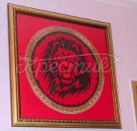 """Вышитая картина крестом """"Могущество льва"""""""