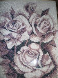 """Вишита картина бісером """"Троянди"""" купити"""