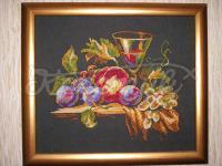 "Вишита картина натюрморт ""Келих і фрукти"""