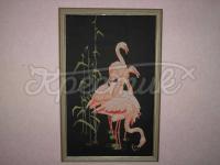 """Вышитая крестом картина """"Фламинго"""" купить"""