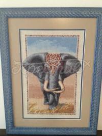 Вышитая крестом картина Африканский слон