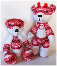 Купить игрушки медведи в вышиванках