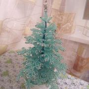 Голубая елка из бисера