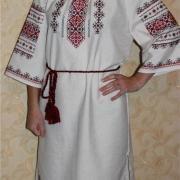 """Женское вышитое платье """"Крестики"""" фото"""
