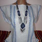"""Летняя женская вышиванка """"Голубая нежность"""""""