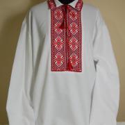 Купить мужскую вышиванку со сваргами крестиком