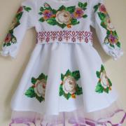 """Дитяче плаття вишиванка """"Чайна троянда"""" фото"""