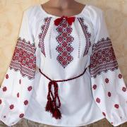 """Женская вышиванка """"Красные цветы 3 """" купить"""