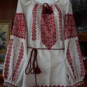 """Женская вышиванка ручной работы """"Пламя"""" фото"""