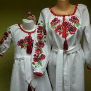 Парные платья для мамы и дочки Маки фото