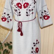 Украинское вышитое платье заказать