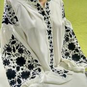 Женская вышитая блуза с цветами купить