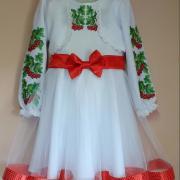 """Вишита сукня для дівчинки """"Калинка"""" фото"""