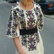 Женское вышитое платье Цветок купить