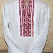 """Украинская вышиванка  на мальчика """" Два цвета"""" купить"""