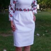 Женское вышитое платье Роза купить