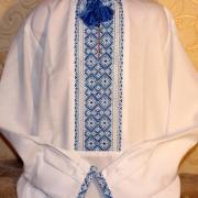 """Украинская вышиванка  на мальчика """" Голубая вышивка"""" купить"""