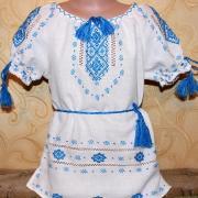 """Дитяча вишита сукня """" Голуба мрія"""" купити"""