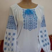 Вишита жіноча блузка на шифоні мрія фото
