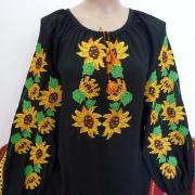 Вышитая женская блузка Подсолнухи фото