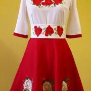 """Жіноча вишита сукня """"Розета"""" придбати"""