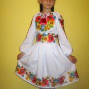 """Детское вышитое платье """" Полевые цветы"""" купить"""