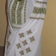 Блузка з вишивкою на шифоні Соковита зелень фото