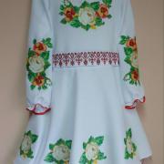 """Дитяча вишита сукня """"Чайні троянди"""" фото"""
