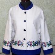 Украинский кашемировый жакет с ручной вышивкой фото
