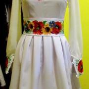 """Женское вышитое платье """" Полевые цветы"""" купить"""