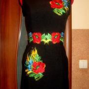 """Женское вышитое платье """" Полевые цветы""""  3 купить"""