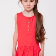 Летний сарафан для девочки красный фото