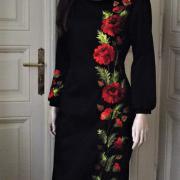 """Классическое вышитое платье """"Красные маки"""" Фото Крестик Киев"""