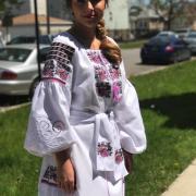 """Борщевское платье с элементами ришелье """"Кармелита"""" фото Крестик"""