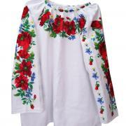 Женская сорочка вышиванка ручной работы с маками