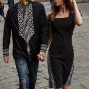 """Черные парные вышиванки """"Молодость"""" купить Крестик Киев"""