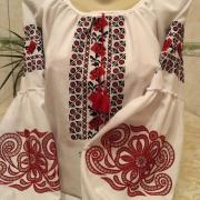"""Женская вышиванка """"Красная роза"""" купить"""