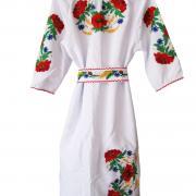 Жіноча біле плаття з вишивкою