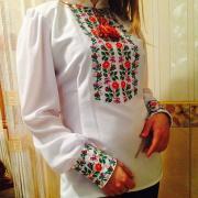 """Женская вышиванка на шифоне """"Розалия"""" купить Киев"""