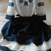 "Темно синий женский костюм ""Нежность кружева"" фото"